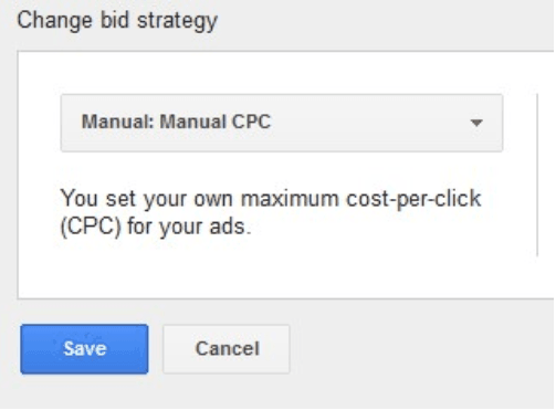 Select manual CPC and click save.