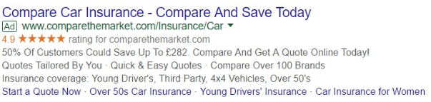 Adwords Seller Rating In Action
