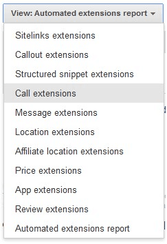 Select Call Extensions From The Drop Down