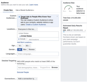Set Your Audience Targeting