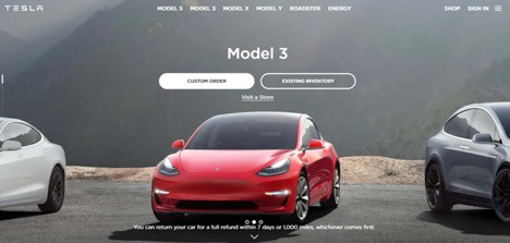 Tesla Ecommerce Website