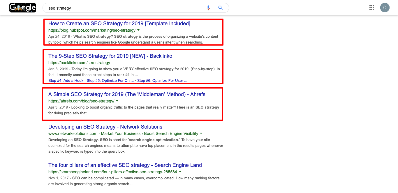Seo Strategy Screenshot